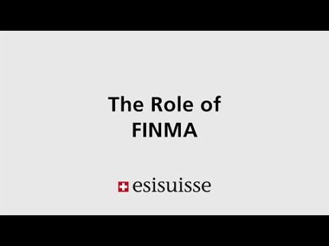 The Role of FINMA