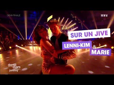 """DALS S08 - Un Jive pour Lenni-Kim et Marie Denigot sur """"Souvenirs, Souvenirs"""" de Johnny Hallyday"""