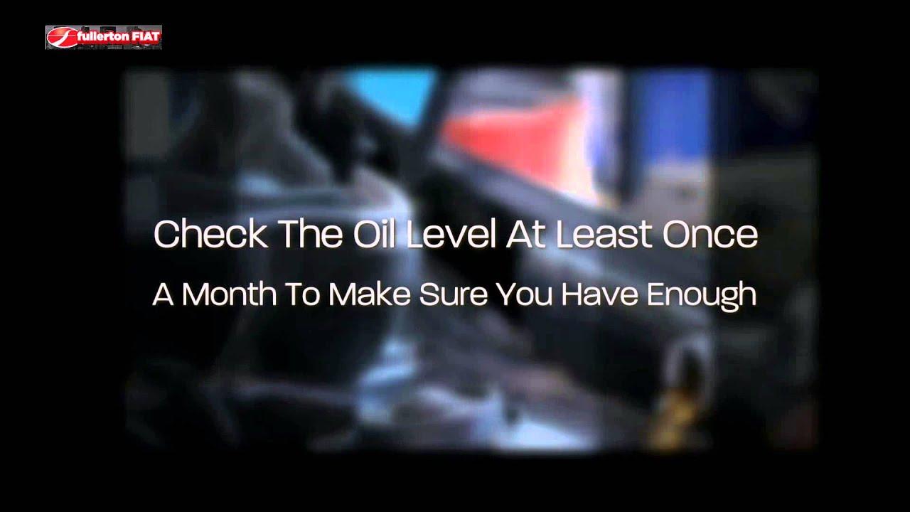 how often should you change your oil somerville fiat dealer youtube. Black Bedroom Furniture Sets. Home Design Ideas