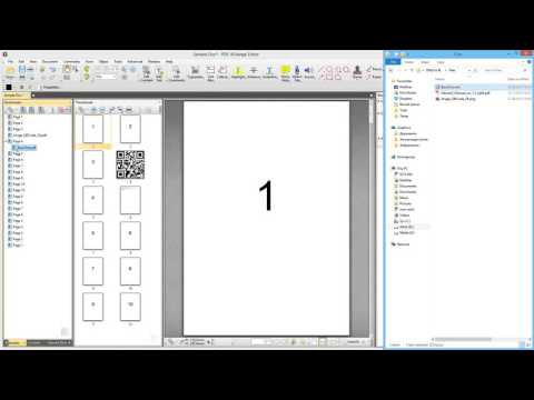 PDF-XChange Editor: Dragging and Dropping into Bookmarks View