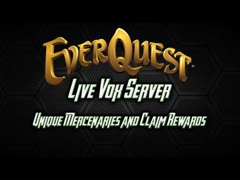 How to claim Unique Mercenaries and Special Rewards - Everquest Live Vox Server