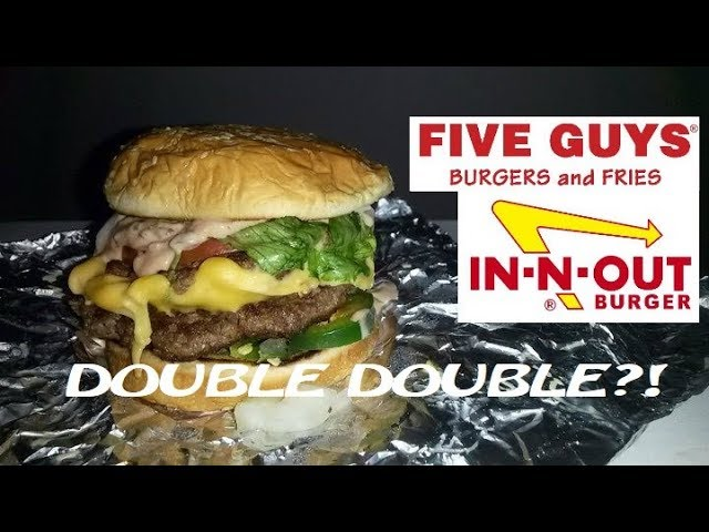 Five Guys Burger Hack In N Out Animal Style Double Double Secret Menu