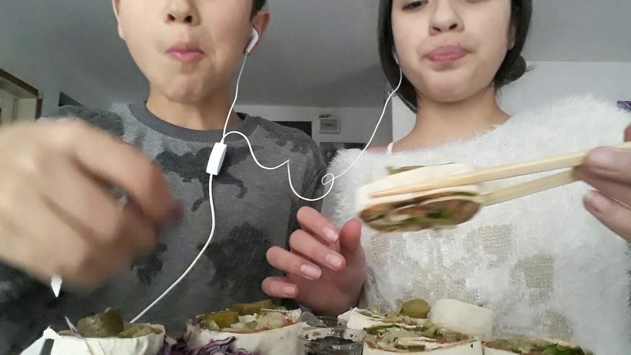 Sushi çiğköfte asmr türkçe asmr🍣🥢