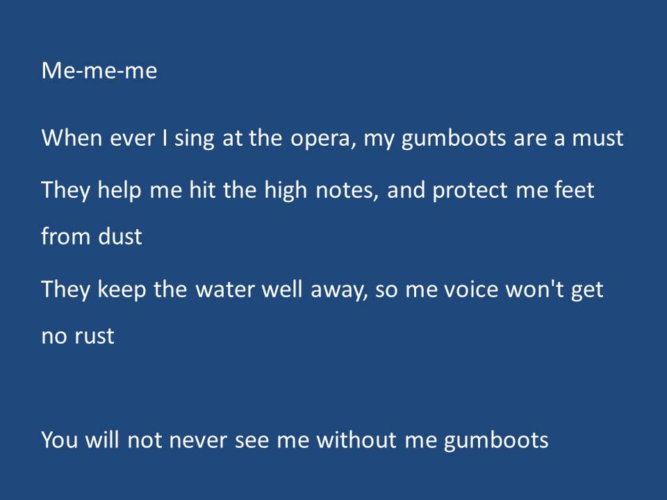 Lyric blue song lyrics : The Gumboot Song Clip - YouTube