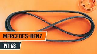 Montavimo V formos rumbuotas diržas MERCEDES-BENZ A-CLASS (W168): nemokamas video
