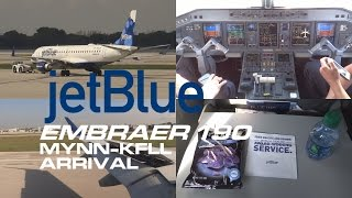 jetBlue | Arrival into Ft Lauderdale | With ATC | Embraer 190 | N183JB