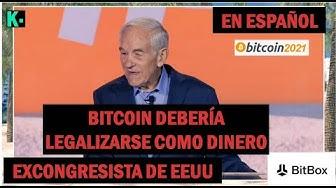 Imagen del video: Ron Paul En Español, Bitcoin debería legalizarse como dinero, déjelo competir con el dólar | Krolus