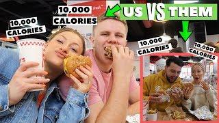 20,000 CALORIE CHALLENGE | COUPLE VS COUPLE