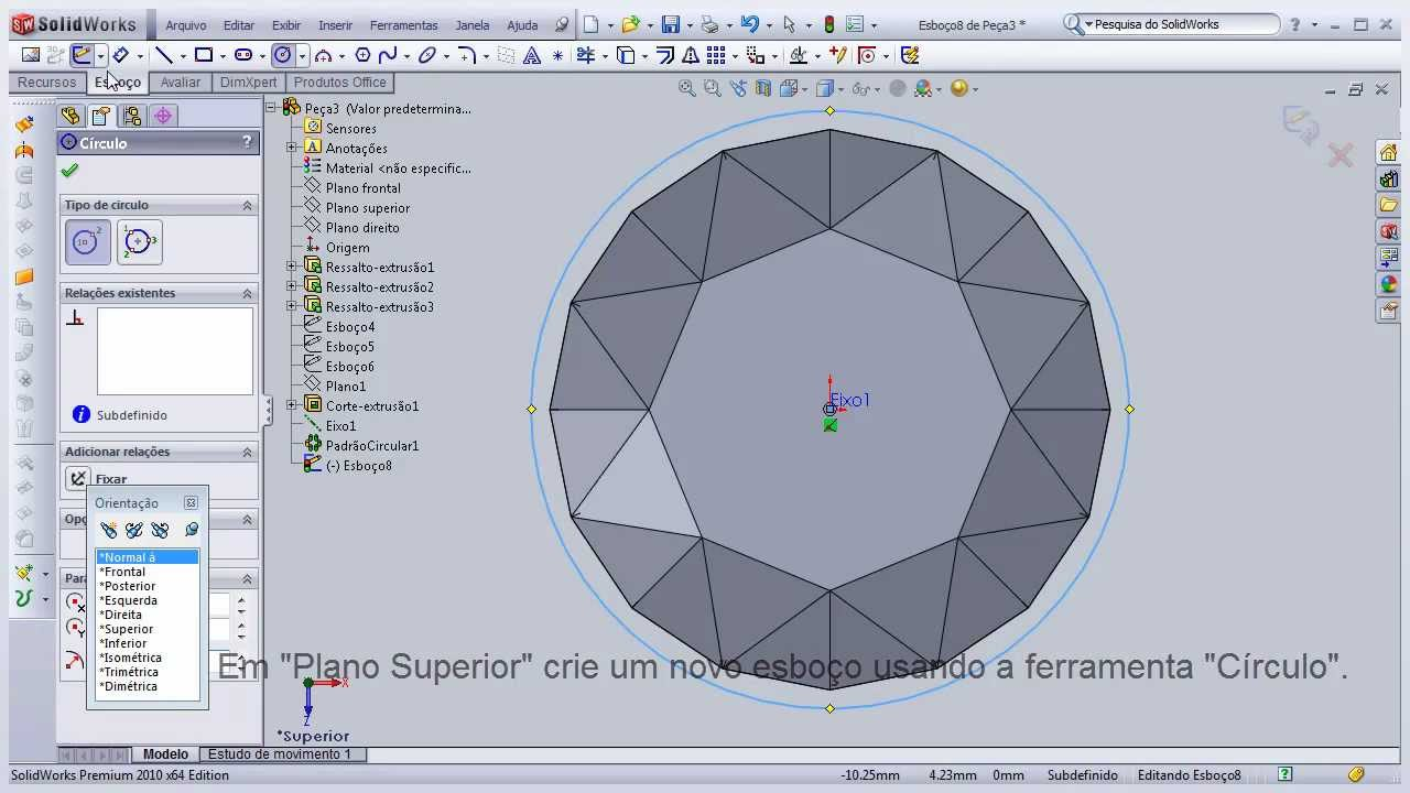 how to make a diamond in solidworks