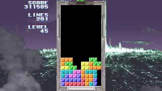 Sega Tetris, 999999 points, 670 lines, level 99, part 1