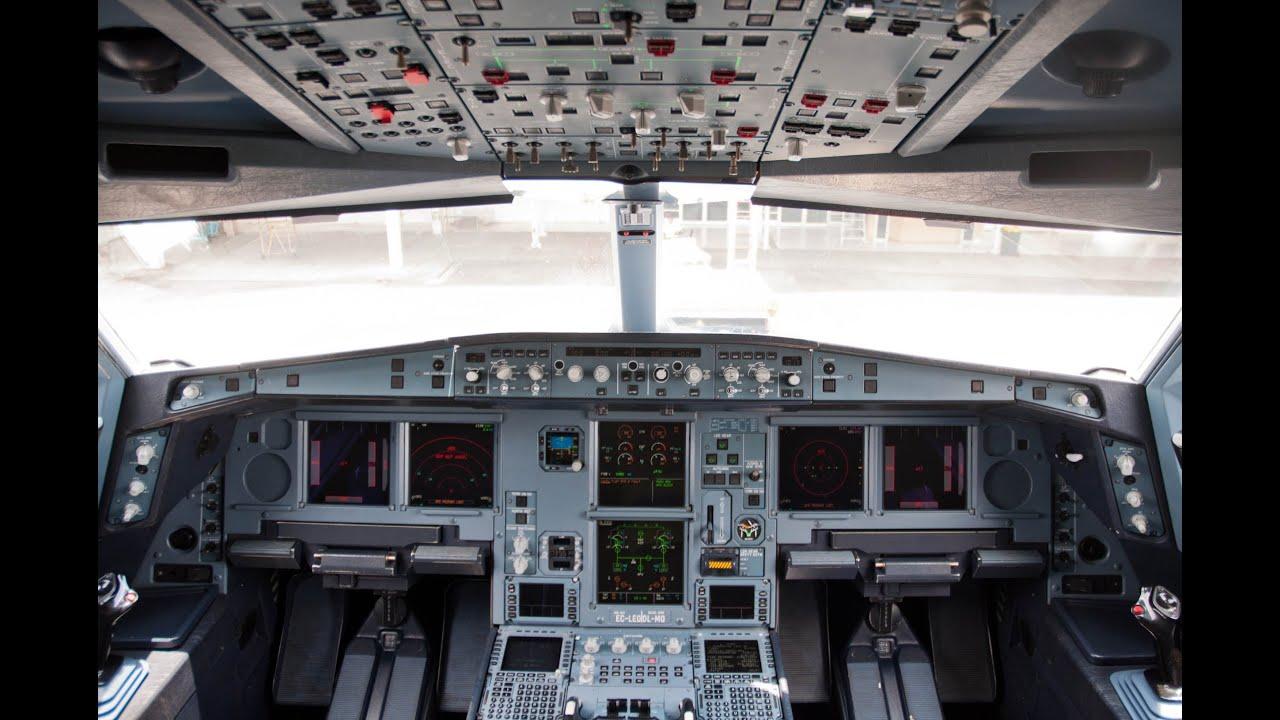 Island Design Airbus A330 300 Cockpit At Ujung Pandang Airport Youtube
