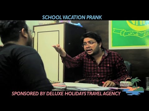 School Vacation Prank By Nadir Ali Teacher In P 4 Pakao Deluxe Holidays