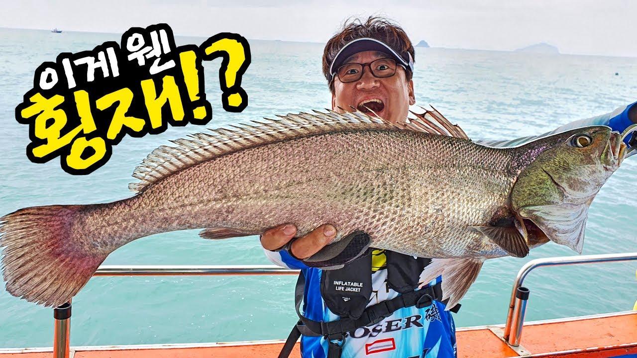 이게 얼마짜리냐~! 최고급 어종 민어, 붉바리를 낚시로 잡아 바로 썰어먹어보자!(민어낚시 1편)
