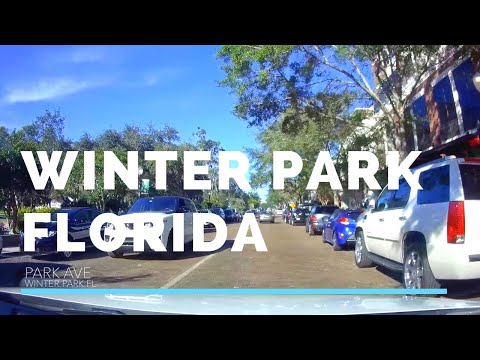 Drive to Winter Park Florida from Downtown Orlando FL