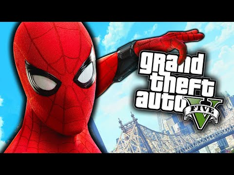 GTA V MODS: SPIDERMAN EN GTA 5 !!