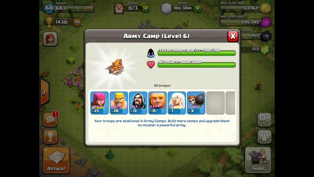 Clash of clans best attack troop combination level 7 town hall