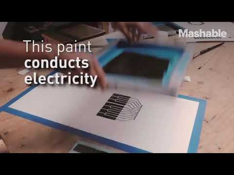 This paint actually conducts electricity ⚡
