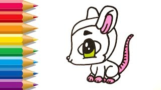 How to Draw Opossum for Children | Opossum Coloring Pages | Fun Paint for kids