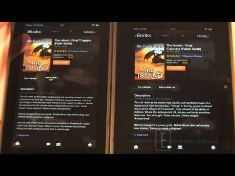 Kindle Fire HD 7 Vs 2012 Kindle Fire Update