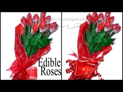 DIY - How To Make Edible Hershey Kisses Rose Bouquet - Valentine's Day