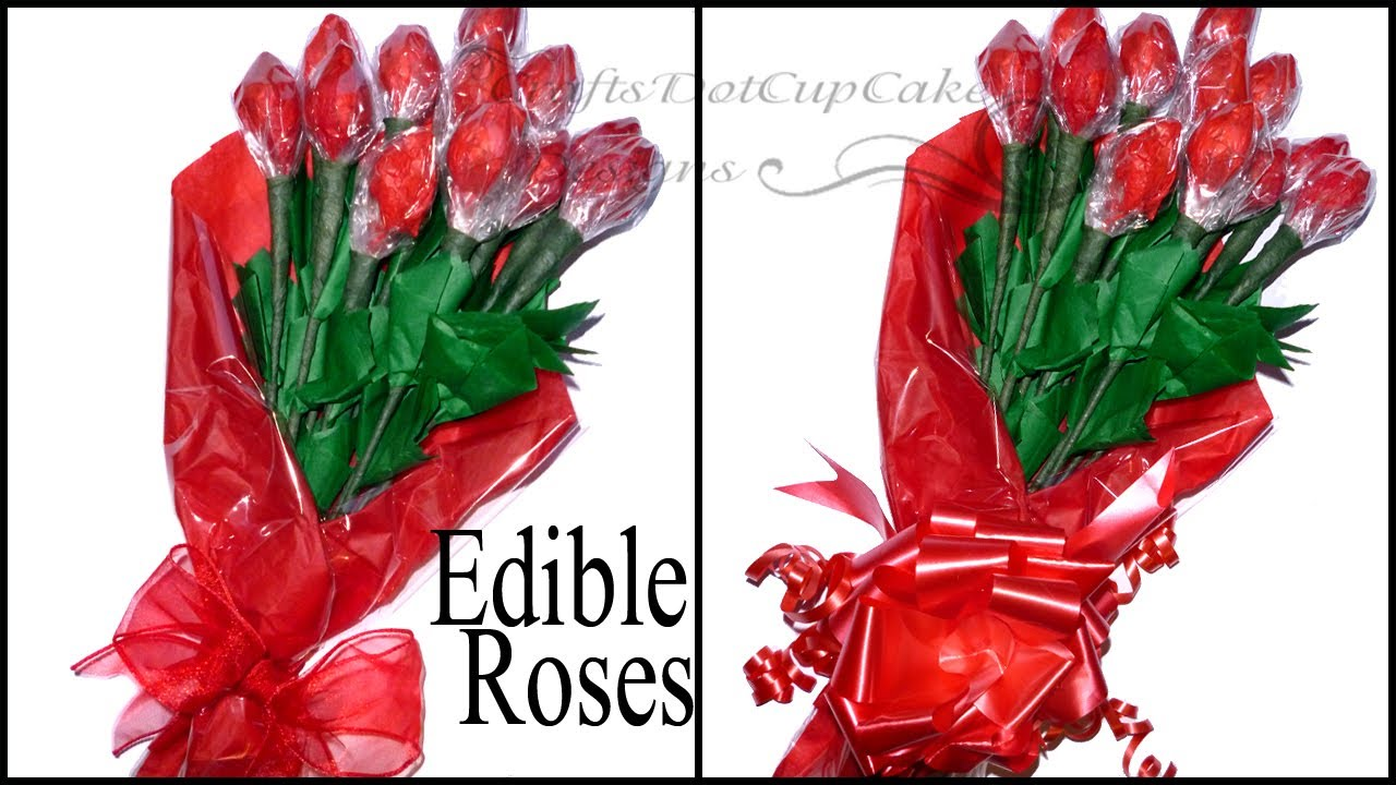 Diy how to make edible hershey kisses rose bouquet valentines diy how to make edible hershey kisses rose bouquet valentines day youtube izmirmasajfo