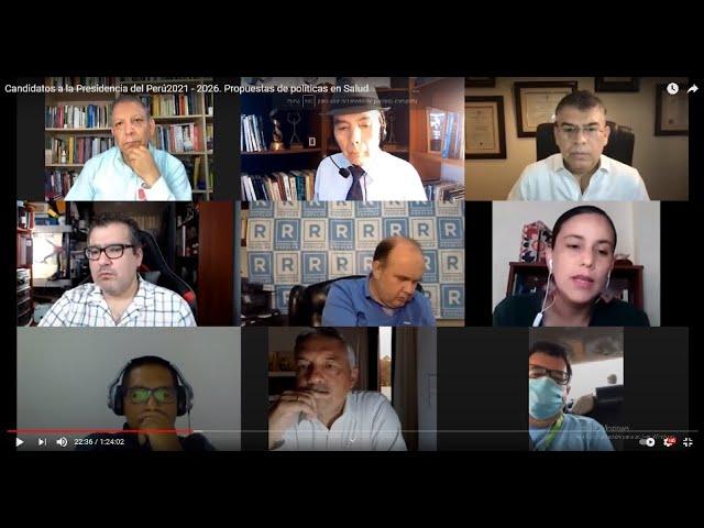 Candidatos a la Presidencia del Perú2021 - 2026. Propuestas de políticas en Salud