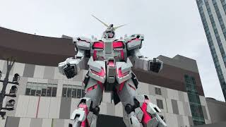 Diver City 1/1 Unicorn Gundam transformation