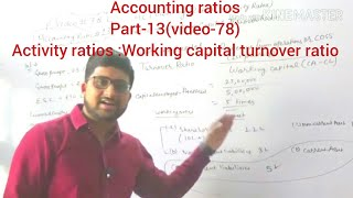 #78,class 12 accounts:accounting ratios(activity ratios:working capital turnover ratio)