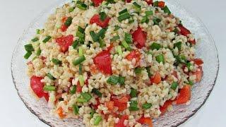 Вкусный постный салат КИСИР / салат с булгуром и овощами