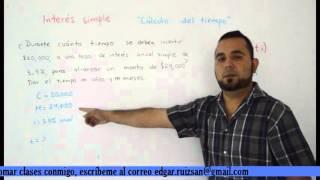1.4 Matemáticas financieras Interés simple Cálculo del tiempo