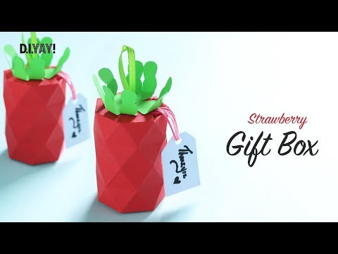 DIY Strawberry Gift Box Ideas | Gift Ideas | Paper Craft