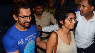 Aamir Khan With Wife Kiran Rao At Karan Johar's Birthday Party