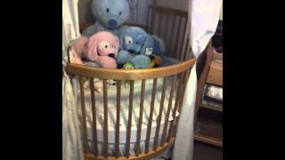 Dream ~ Round Baby Crib Finally Set Up For Future Baby Cheesit Lol