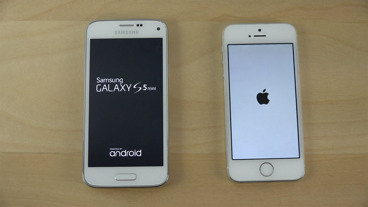 Samsung Galaxy S5 Mini Android 5 0 2 Vs Iphone 5s Ios 8 3