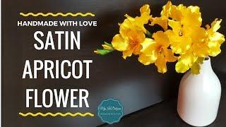 DIY Satin Apricot Flower | MyInDulzens
