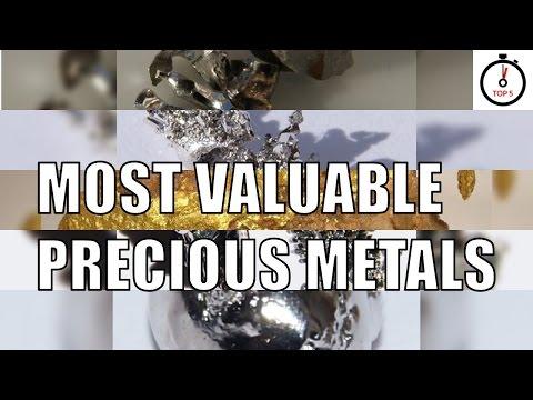 Top 5 most valuable precious metals