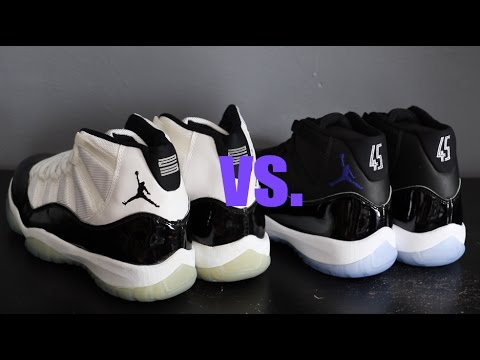 65f60c18969d 2016 Air Jordan XI Space Jam vs 1995 OG Concords - YouTube