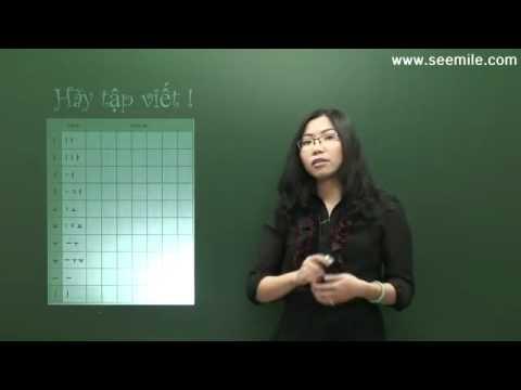 Cách viết bảng chữ cái tiếng hàn (bài 01)