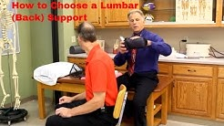 How to Choose & Use a Lumbar (Back) Support-Buy or Make Your Own