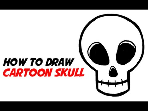 How To Draw A Simple Cartoon Skull 2 Of 3 Step By Drawings