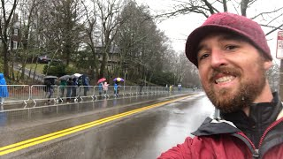 Live from Boston Marathon. Heartbreak Hill!!