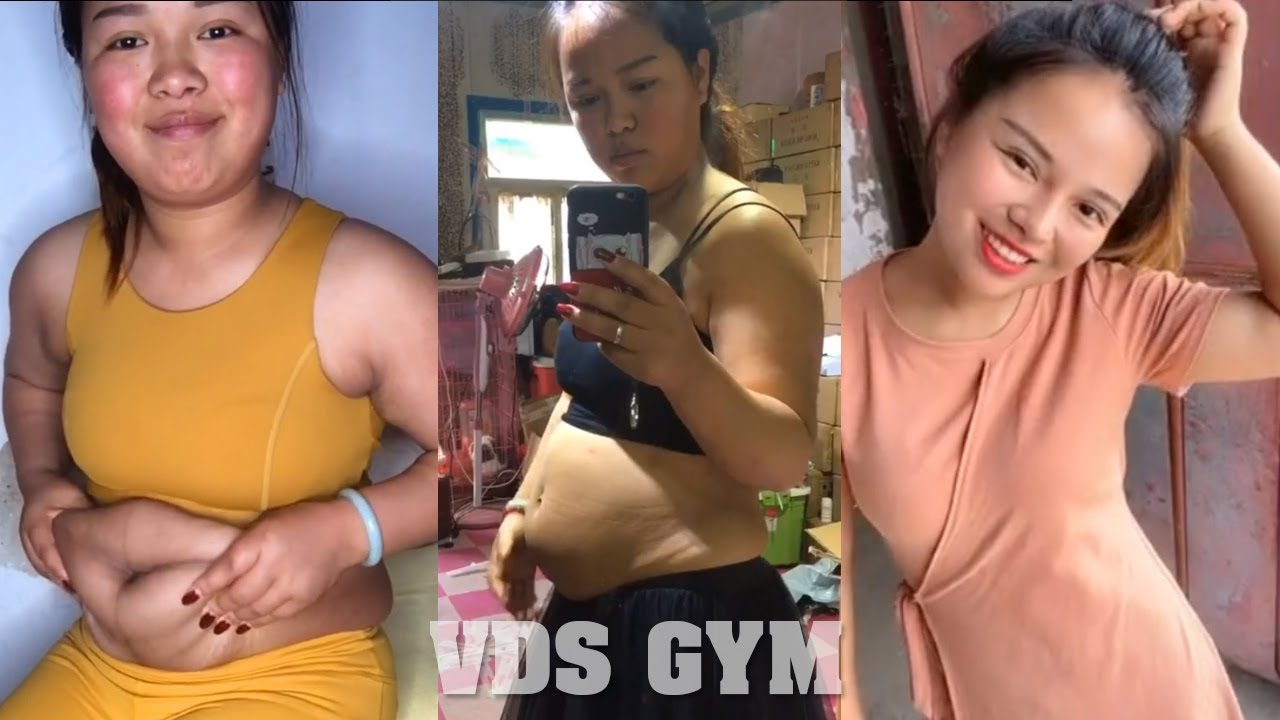Ugly girl becomes beautiful to successful weight loss at home