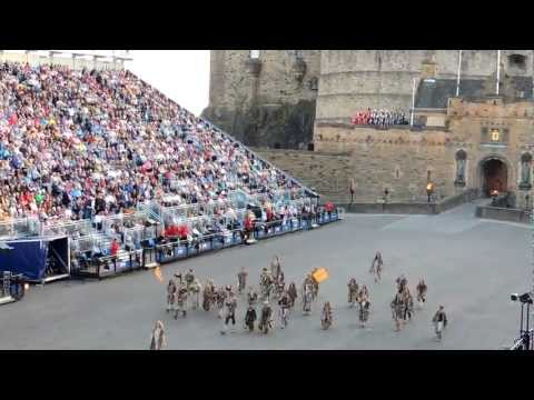 Opening Edinburgh Tattoo by Young Pictish warriors