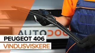 Hvordan bytte Foran vindusviskere på PEUGEOT 406 BRUKSANVISNING | AUTODOC