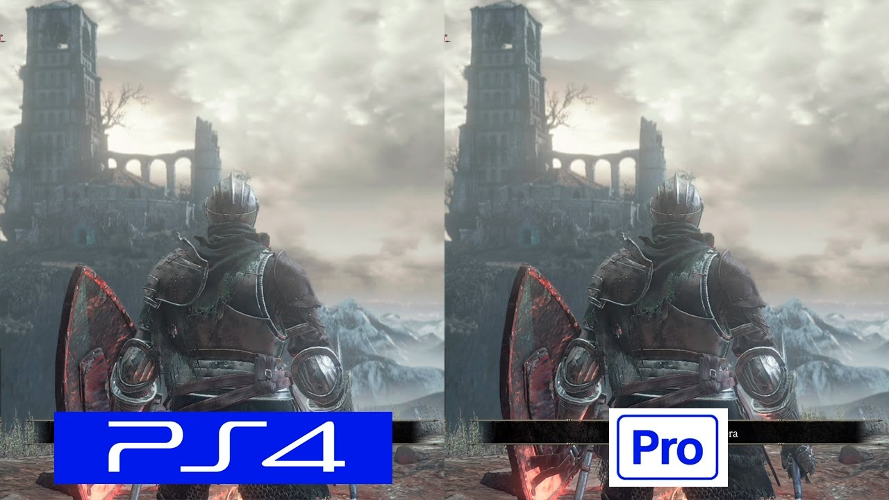 dark souls 3 ps4 pro vs ps4 comparison comparativa. Black Bedroom Furniture Sets. Home Design Ideas