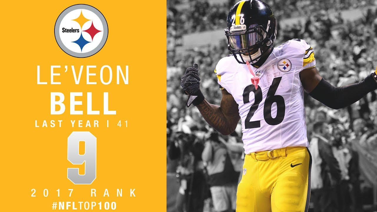 9 Le Veon Bell RB Steelers Top 100 Players of 2017