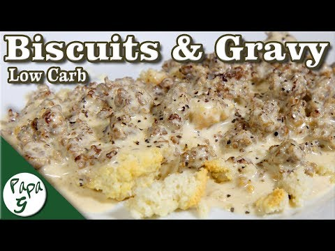 Homemade Sausage Gravy And Biscuits – Low Carb Keto Biscuit Recipe