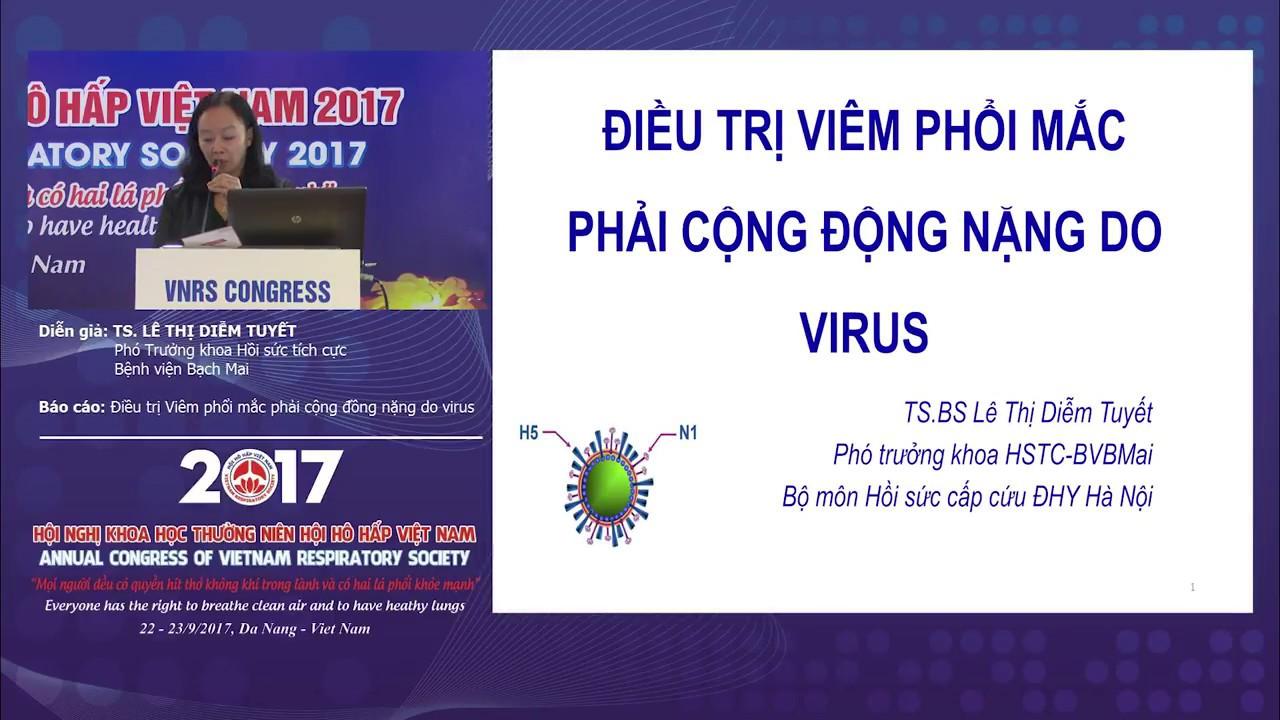 Báo cáo: Điều trị viêm phổi mắc phải cộng đồng nặng do virus