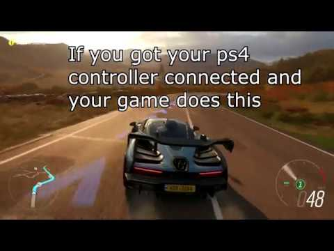 How to play Forza Horizon 4 on PC (LAPTOP) with PS4 controller | 10/2018  *WORKING*