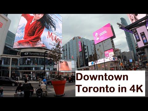 Downtown Toronto In 4K #Canada #TorontoEatonCenter #Weekend